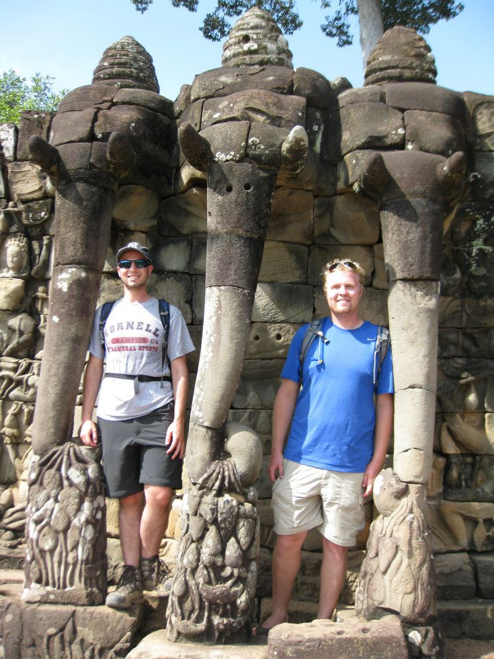 Taking in some Angkor Thom shade with Drew E.