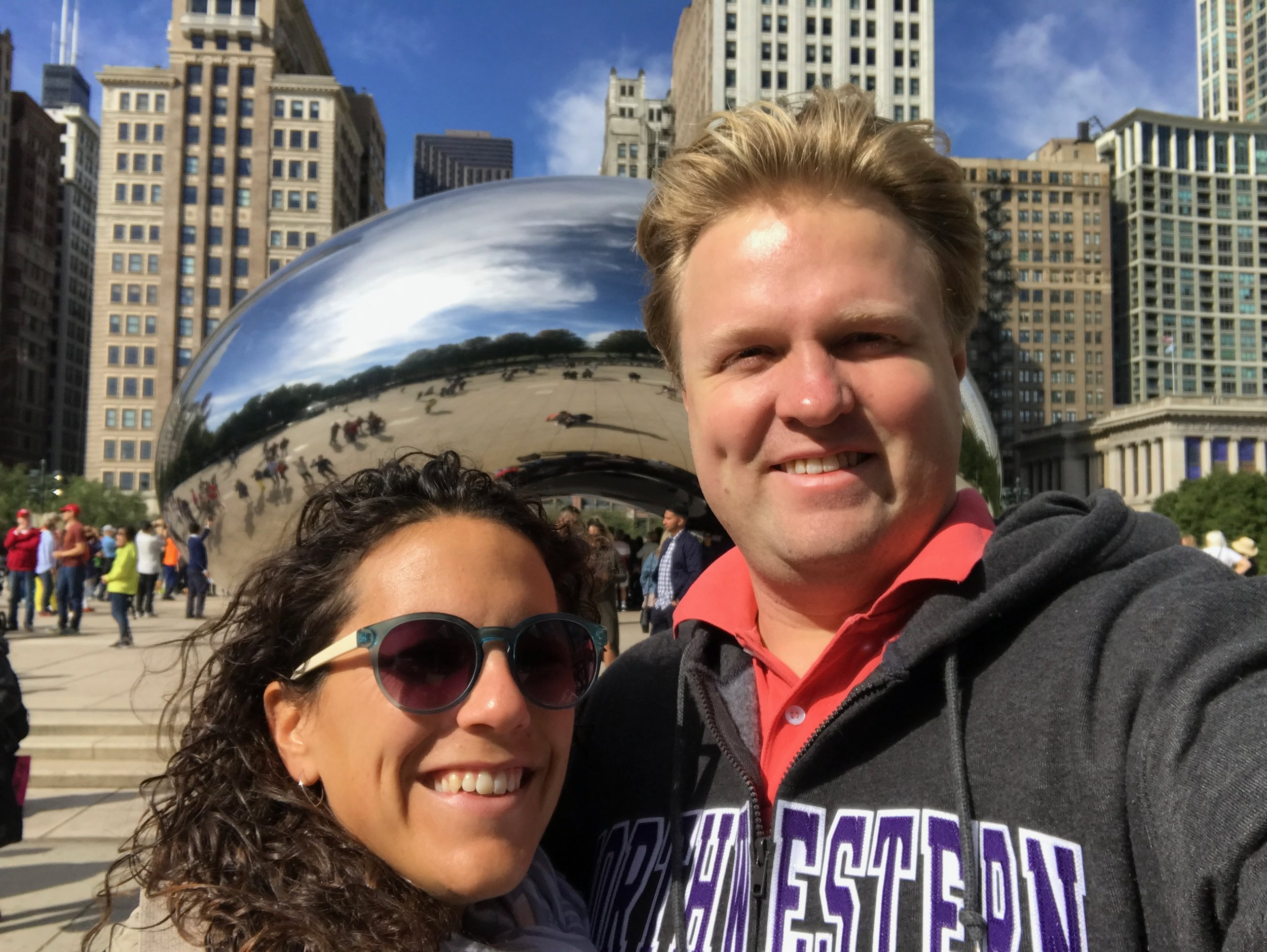 Exploring downtown Chicago with Caroline S.