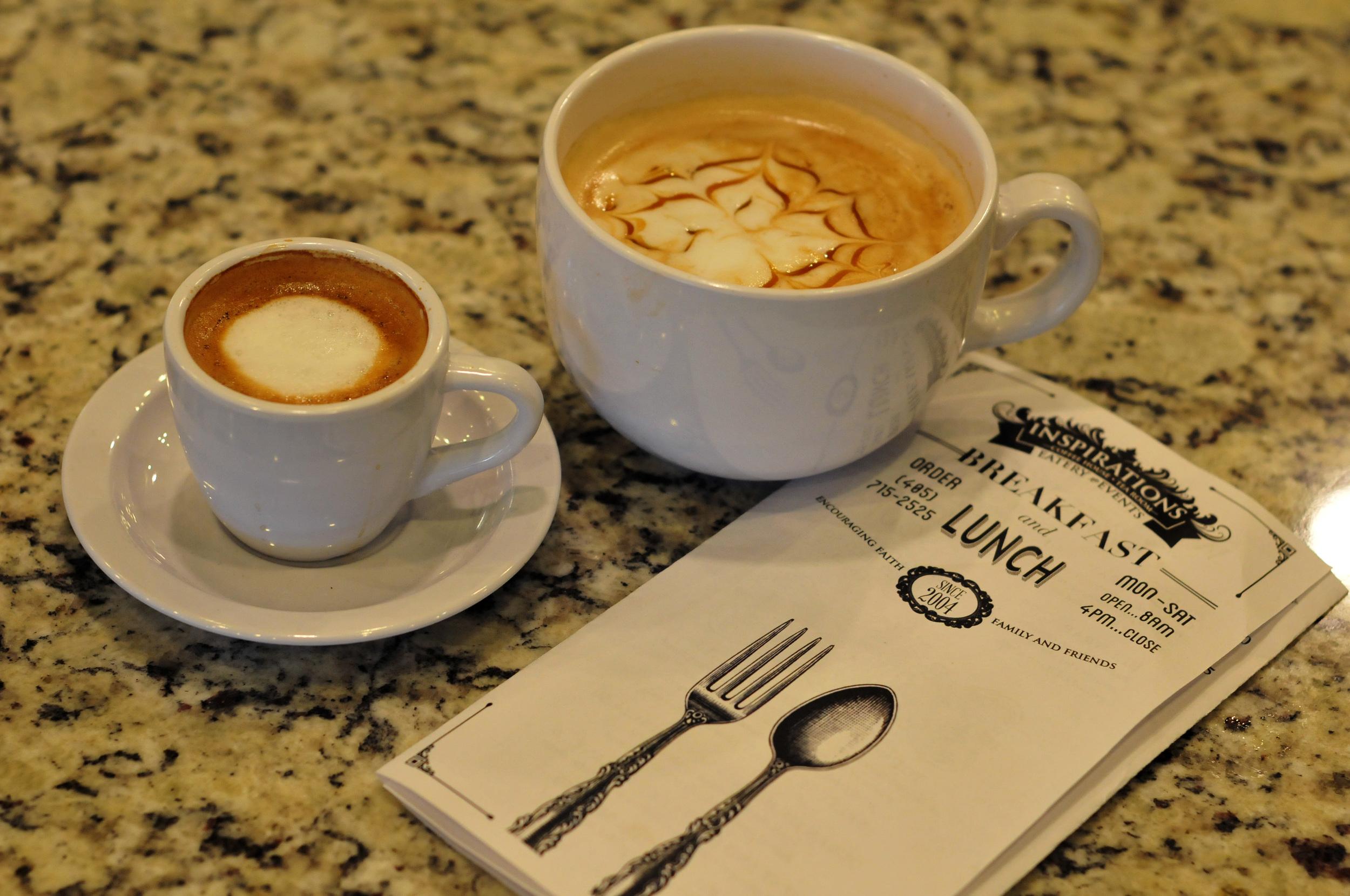Espresso & Lattes at Inspirations