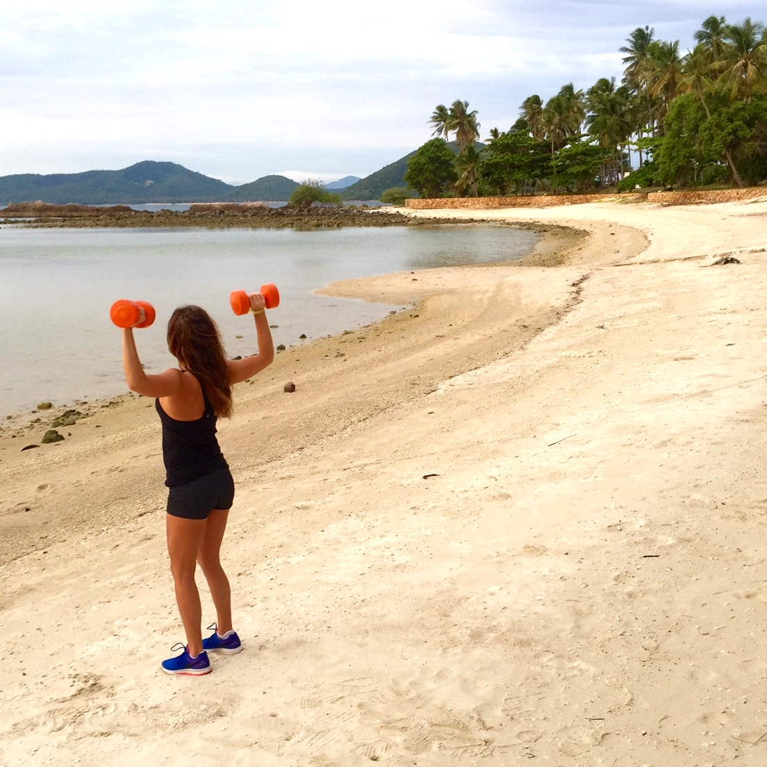 Me, getting my sculpt on before my afternoon Sauv B in Koh Samui, Thailand