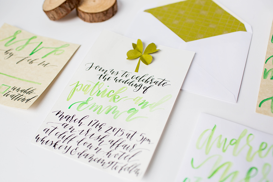Eleven and West Irish Themed Invitation