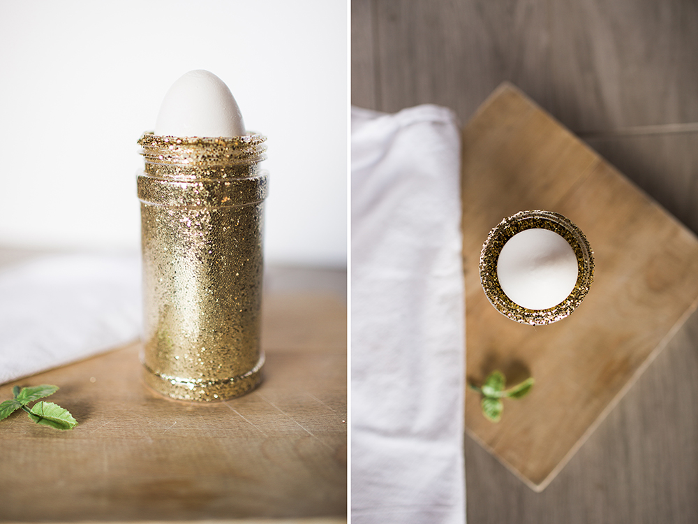 DIY Faux Calligraphy Glitter Egg