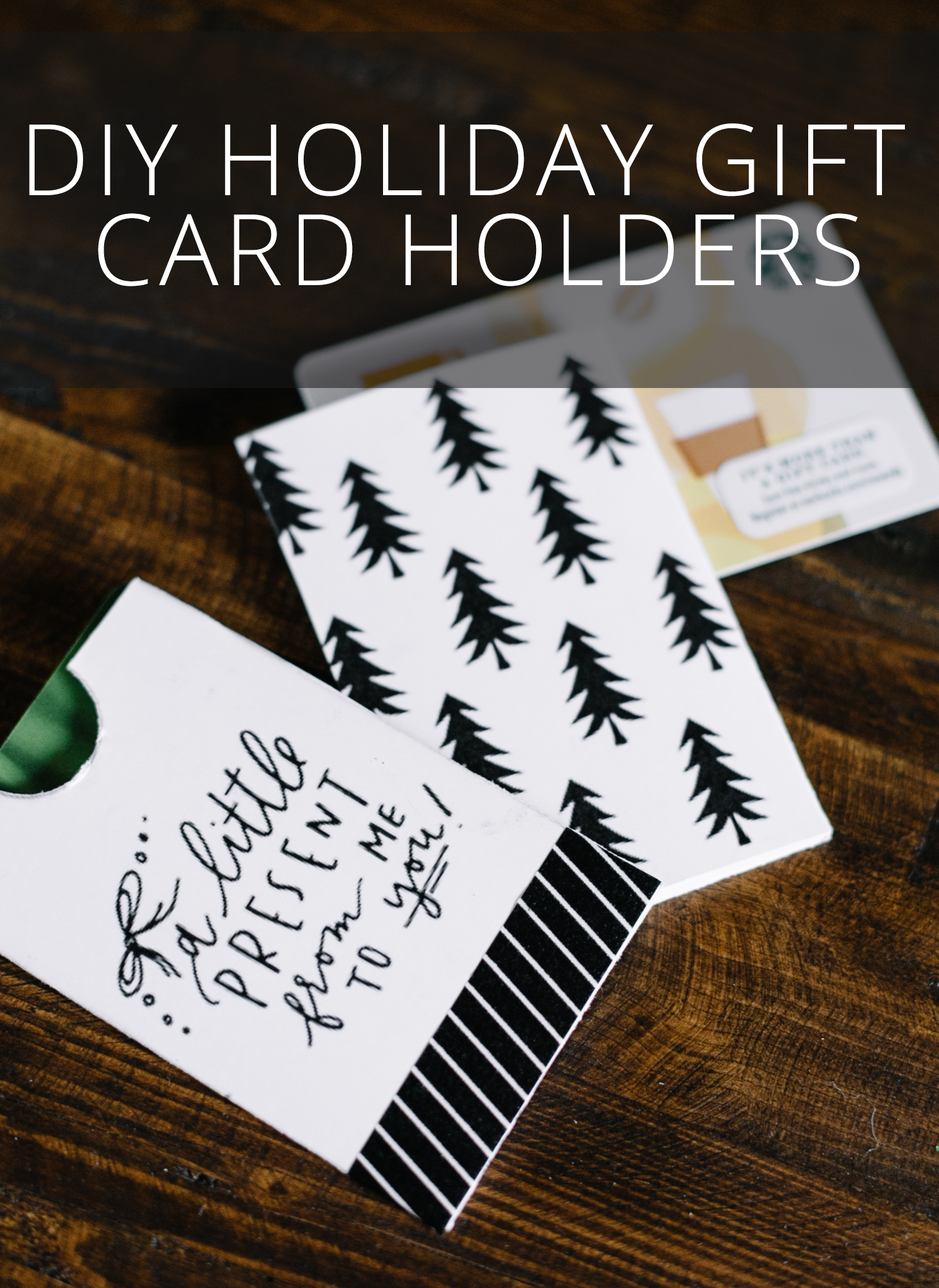 DIY Holiday Gift Card Holders from Eleven and West