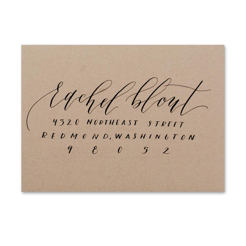 Upright Calligraphy + Print
