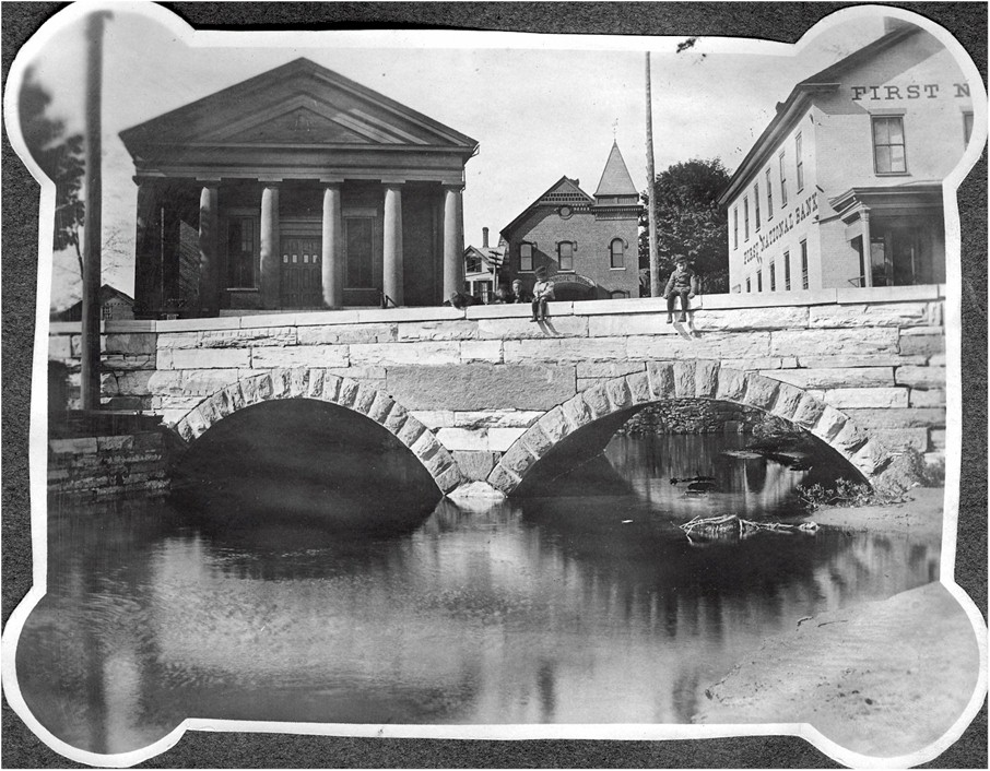 02 Brandon Town Hall, above Neshobe River, c. 1890s.jpg