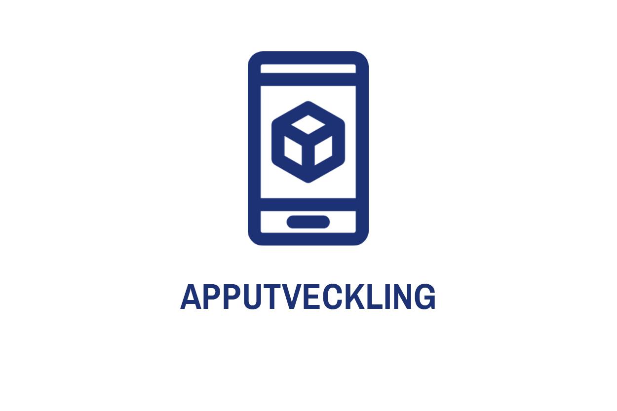 Idag har alla en smartphone. Även om mobilanpassningar från webbsidan är ett enkelt och många gånger smidigt val, är en app ofta snäppet vassare. Apputveckling är rent tekniskt mer avancerat än exempelvis responsiv design. Detta då appar är utvecklade med en annan mjukvara, anpassad för just telefoner. Vi utvecklar mobilapplikationer för både iOS och Android. Vi använder då  iOS native ,  Android native  och cross-plattformar som  React native .   Apputveckling inkluderar ofta grafisk design och är därför nära besläktat med affärsbenet     kommunikation    .
