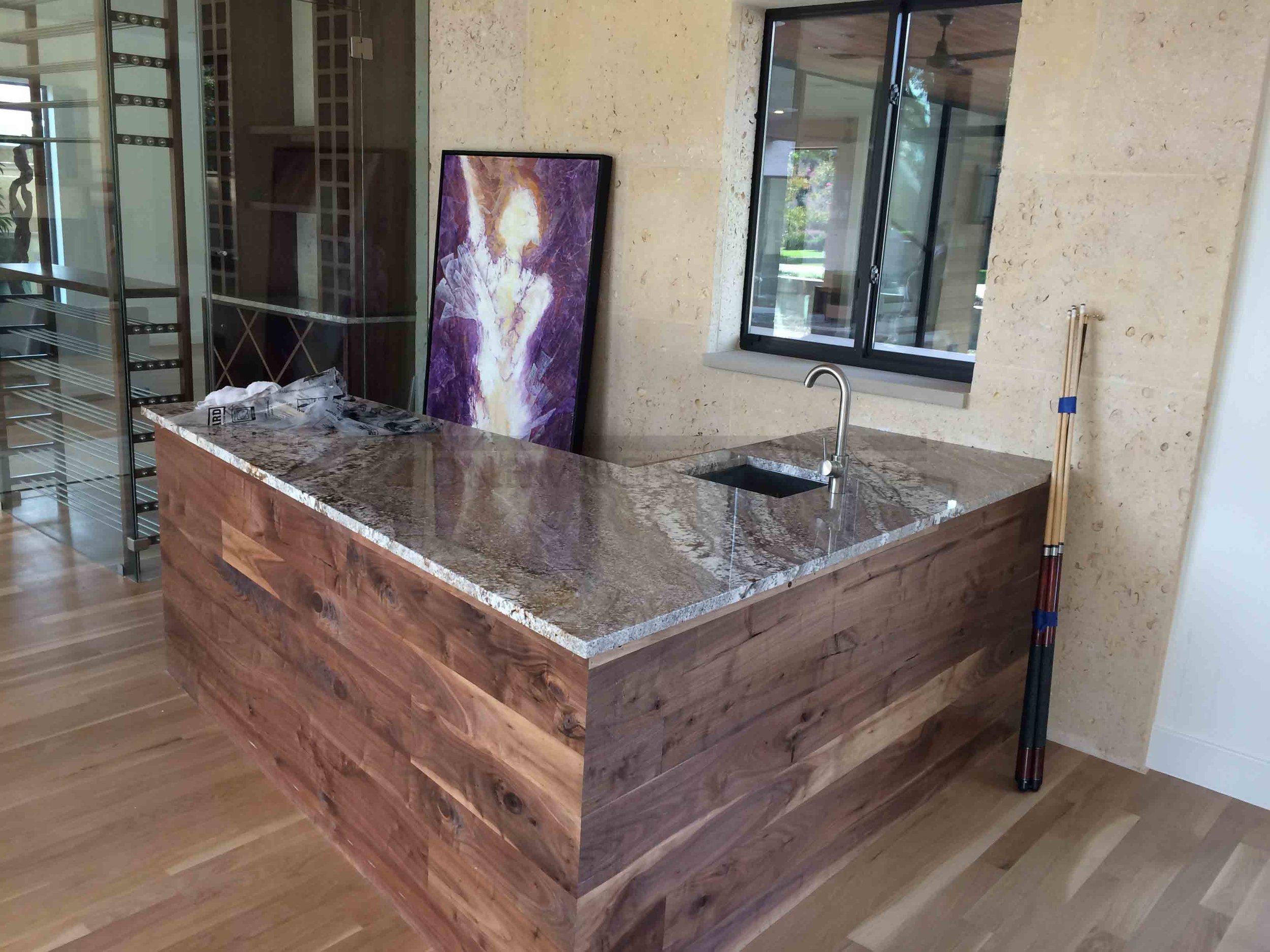 Granite Countertop Bar Area