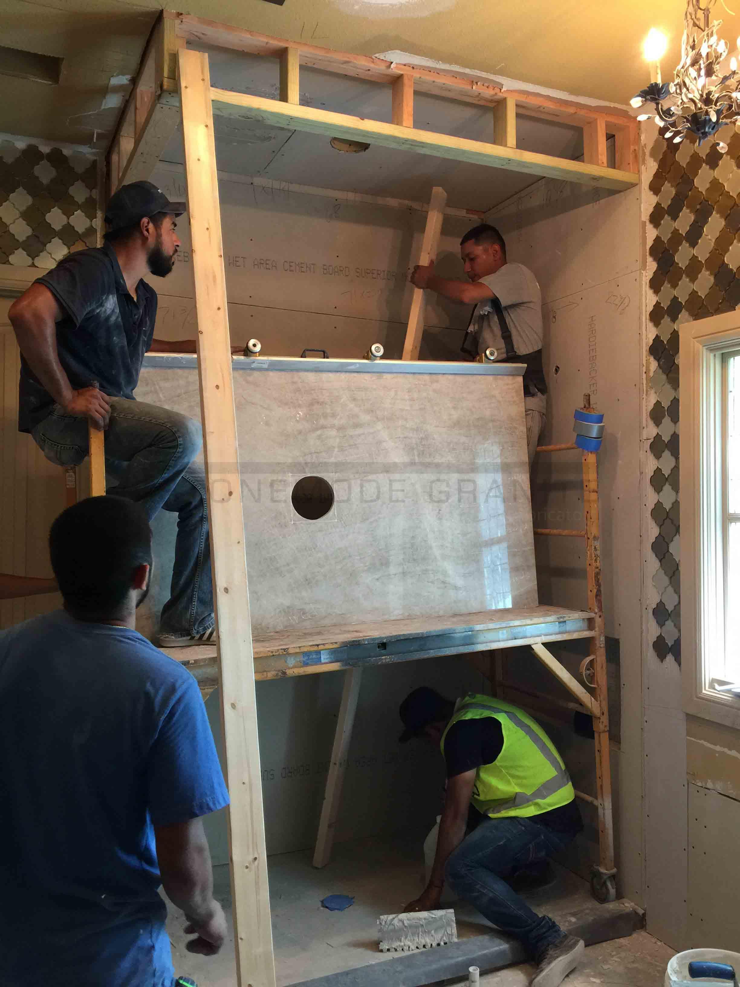 Installing Slab on Ceiling