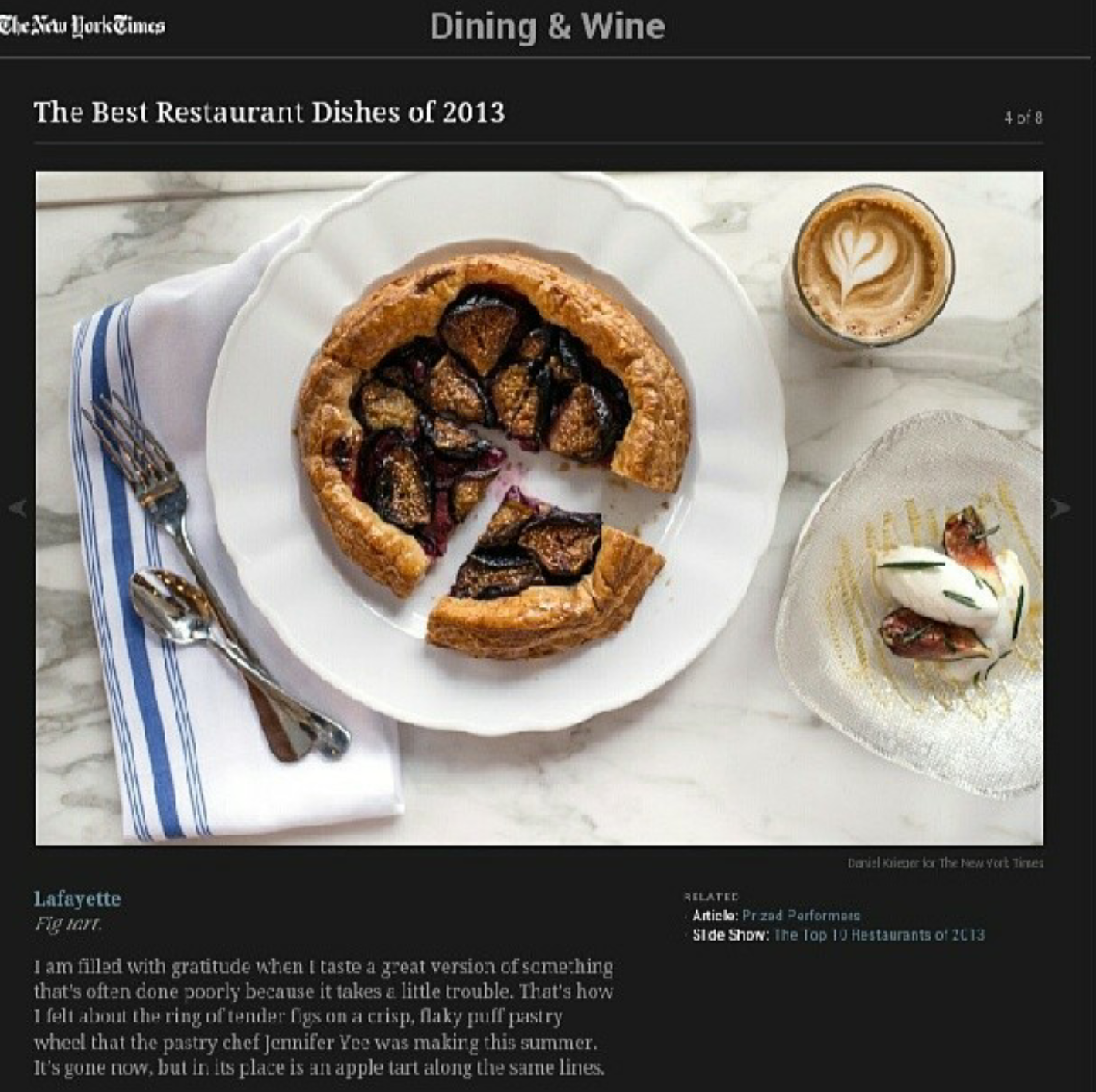 Getting my dessert mentioned in the New York Times.