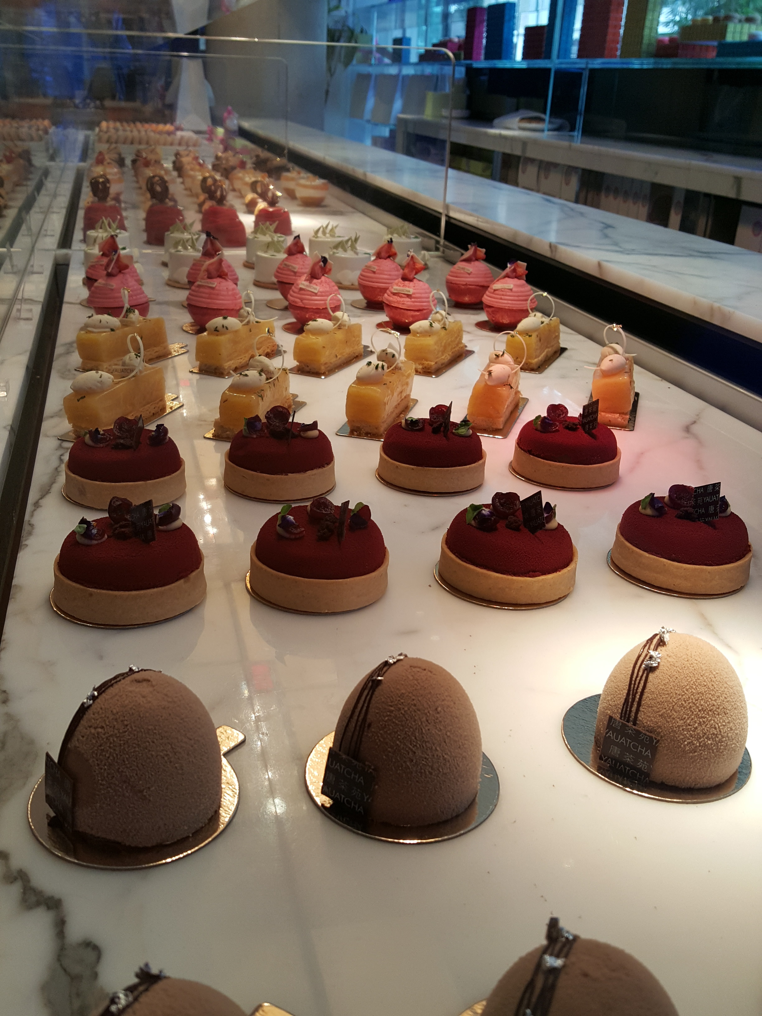 Pure pastry artistry at Yauatcha. And lovely meeting the pastry chef, Sarah Frankland!