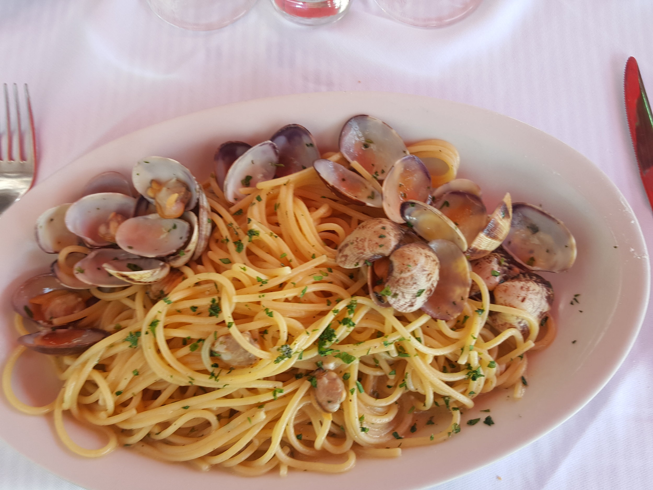 Spaghetti alla (the freshest you can get) Vongole!