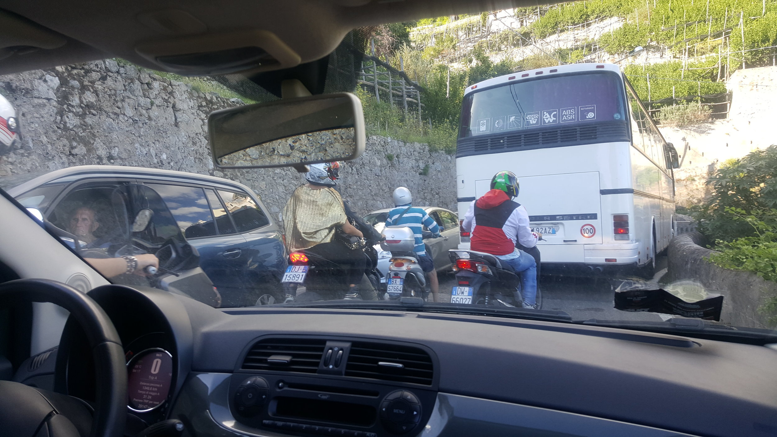 One glimpse at Amalfi traffic.