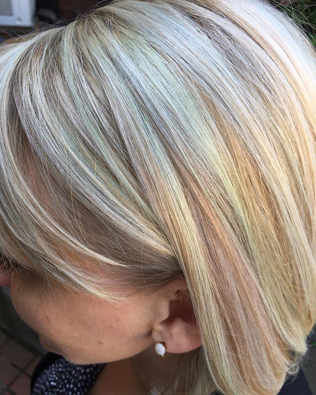 🍭🍬Necco wafer blonde🍬🍭 . . . #pastelhair #opalhair #blondehair #hairinspiration #twilighthairsalon #sarahmillerhair #bostonhairstylist #bostonhair #dimensionalblonde