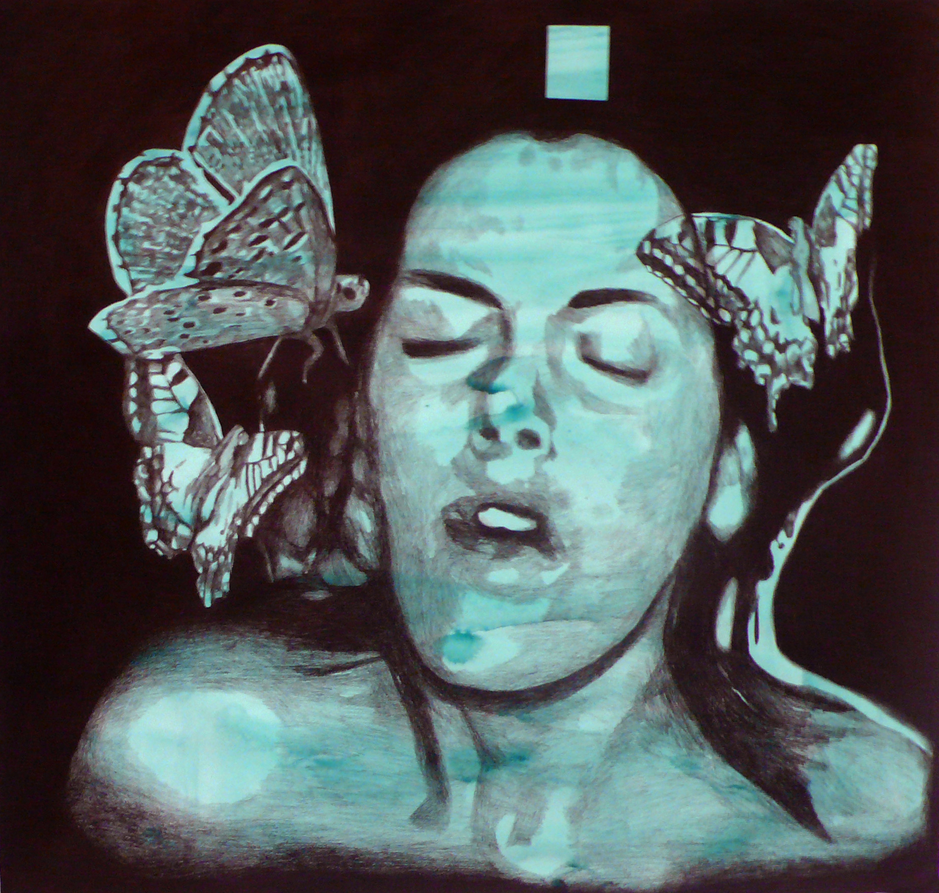 Beautiful Agony #3   pencil and watercolor on paper  1m50 x 1m50
