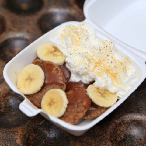 I've been craving the Sweet #BabyCakes with Amish caramel, bananas and whipped cream. #foodcart #foodtruck #KeyWest