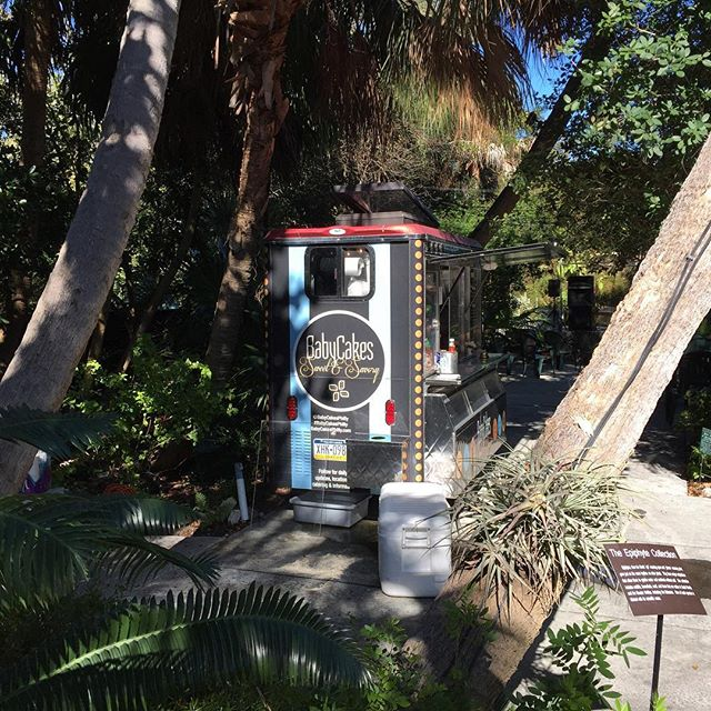 The Botanical Gardens in #keywest is the perfect setting for BabyCakes #foodcart #foodtruck