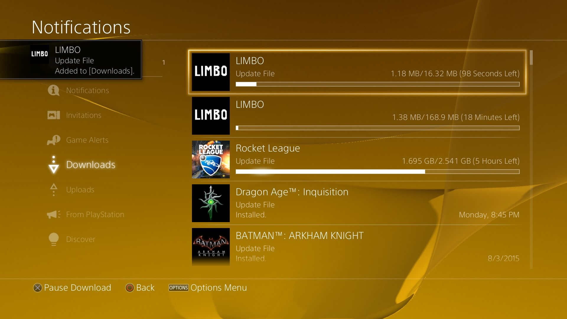 In limbo, where your games will remain for hours.