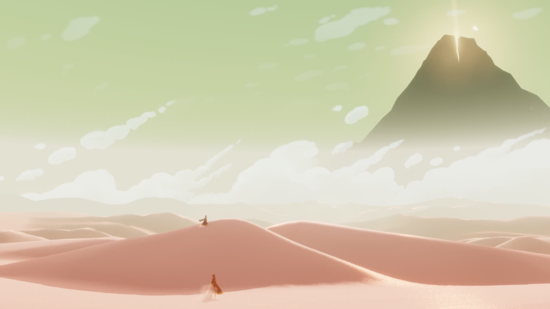 The landscapes of Journey are simply breathtaking at times.
