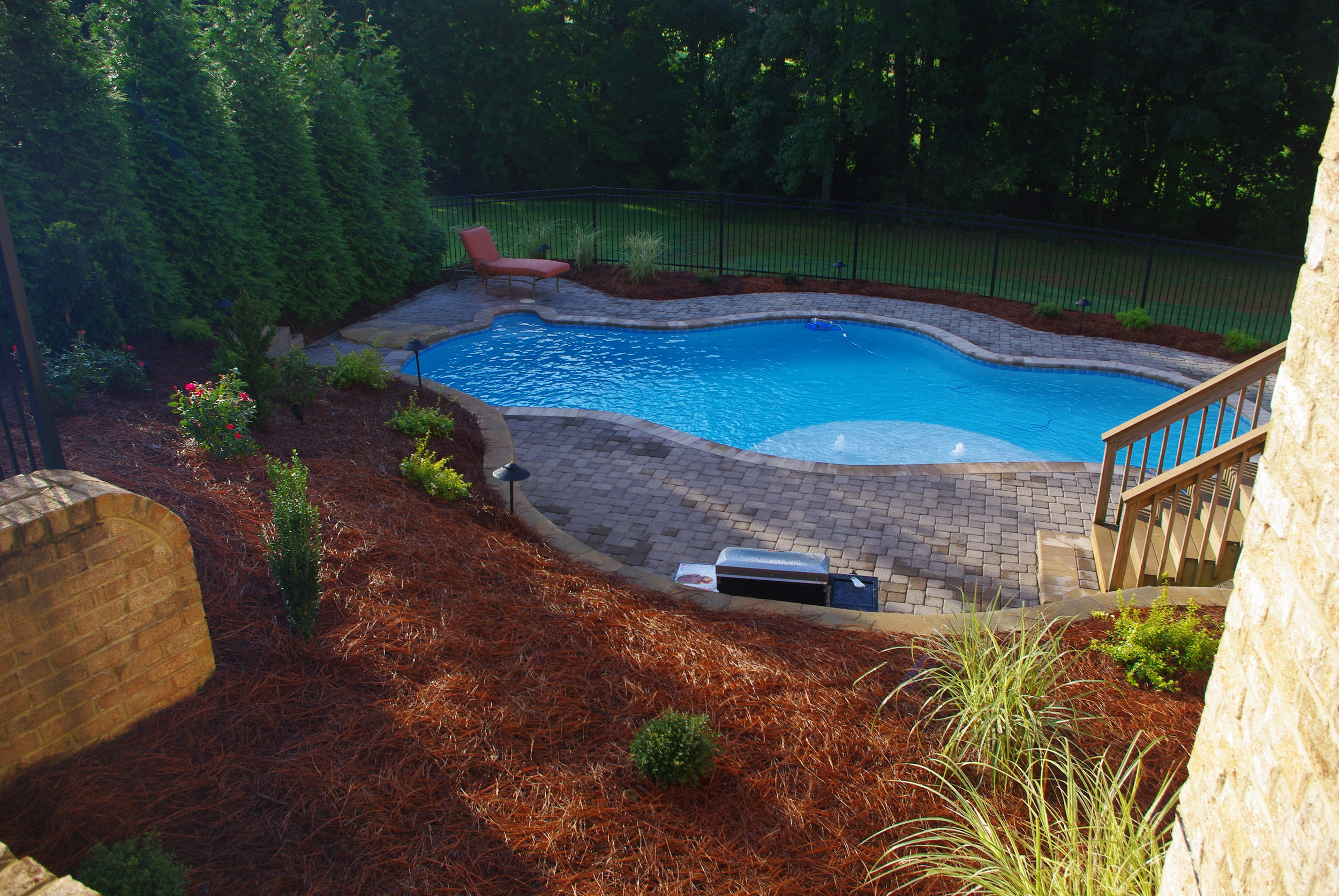 New Pool Construction- 3D Landscape Design Greensboro, NC