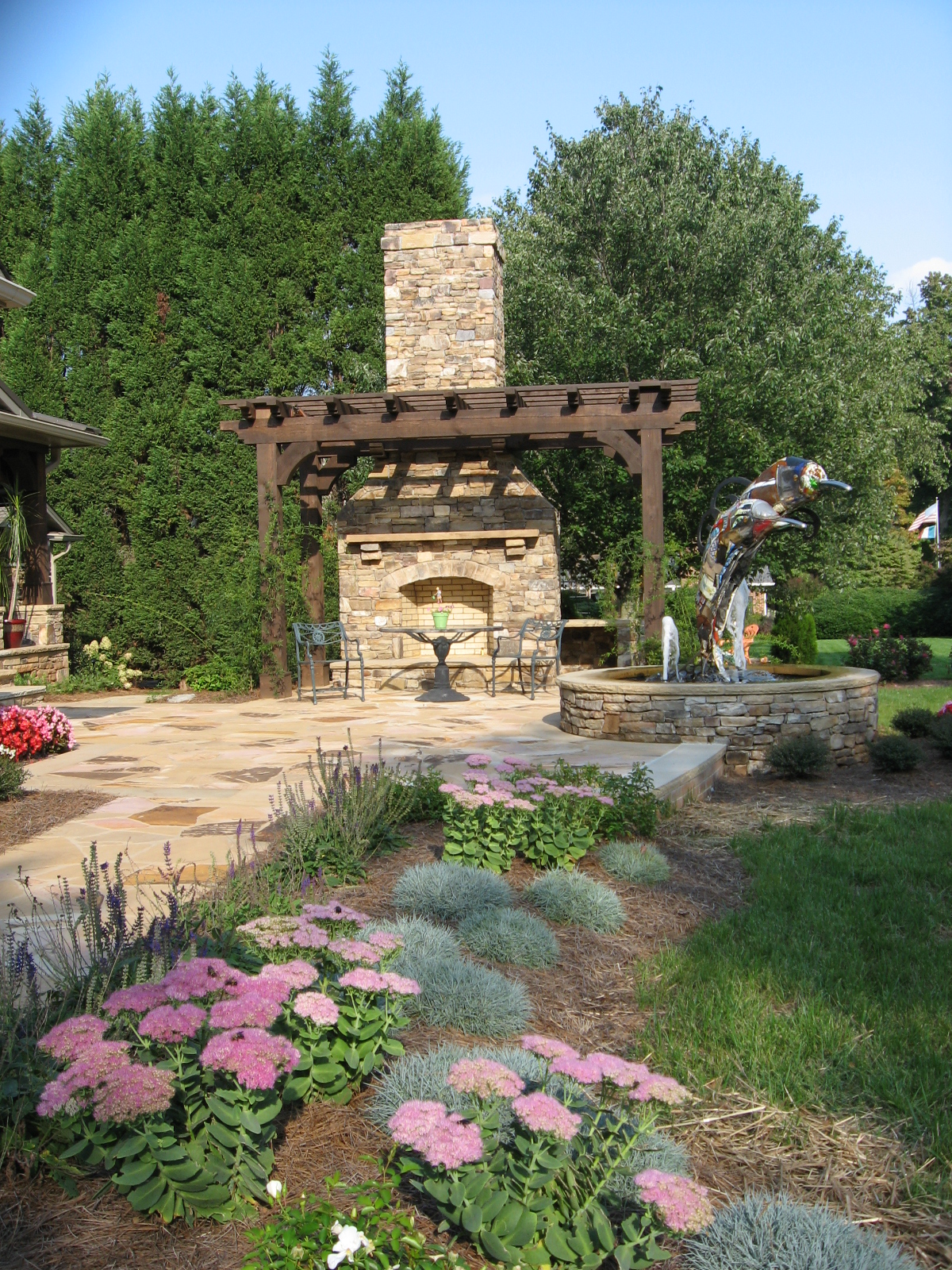 Perennials Plantings- 3D Landscape Design Greesnboro NC