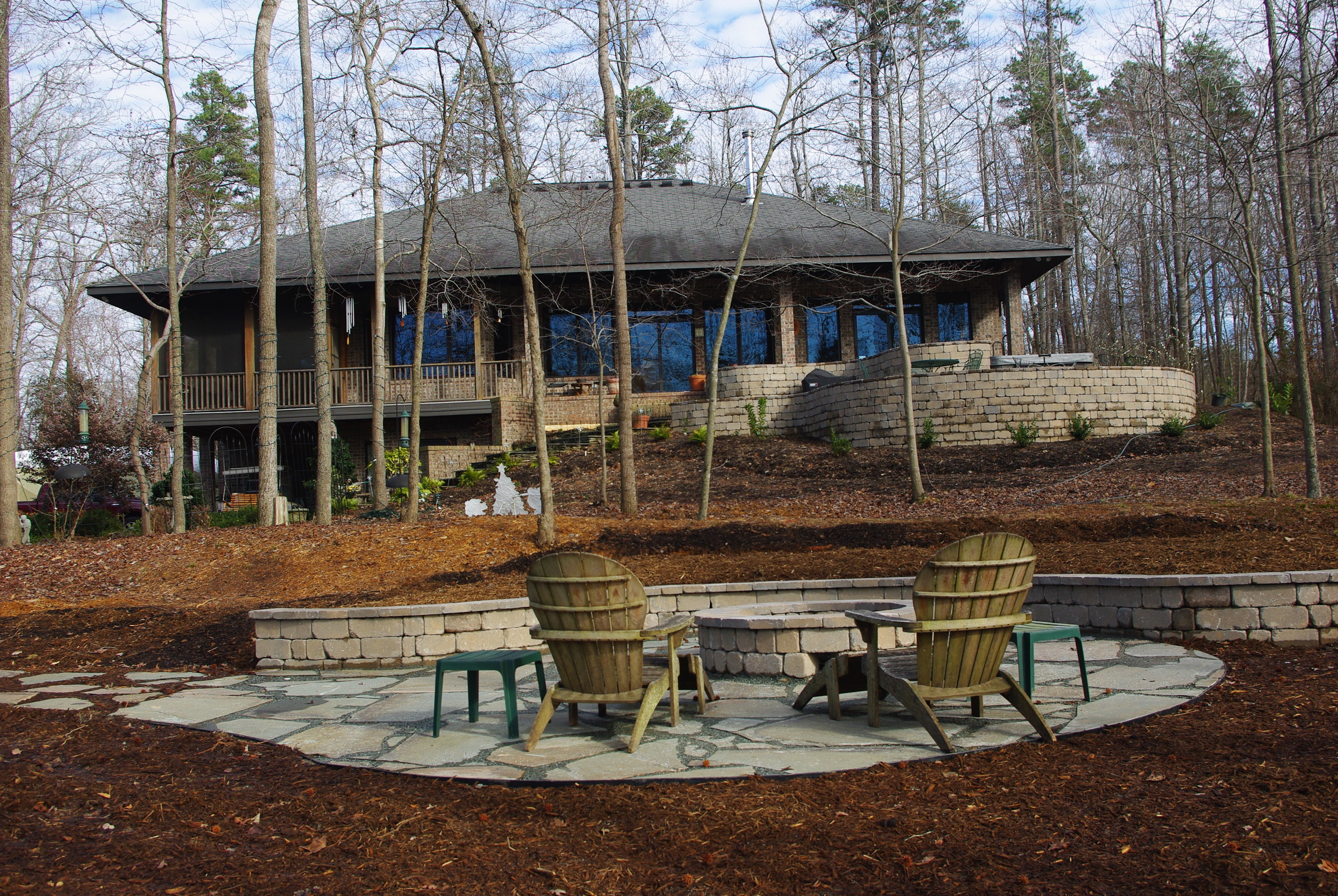 New Backyard Patio- 3D Landscape Design Hillsborough, NC