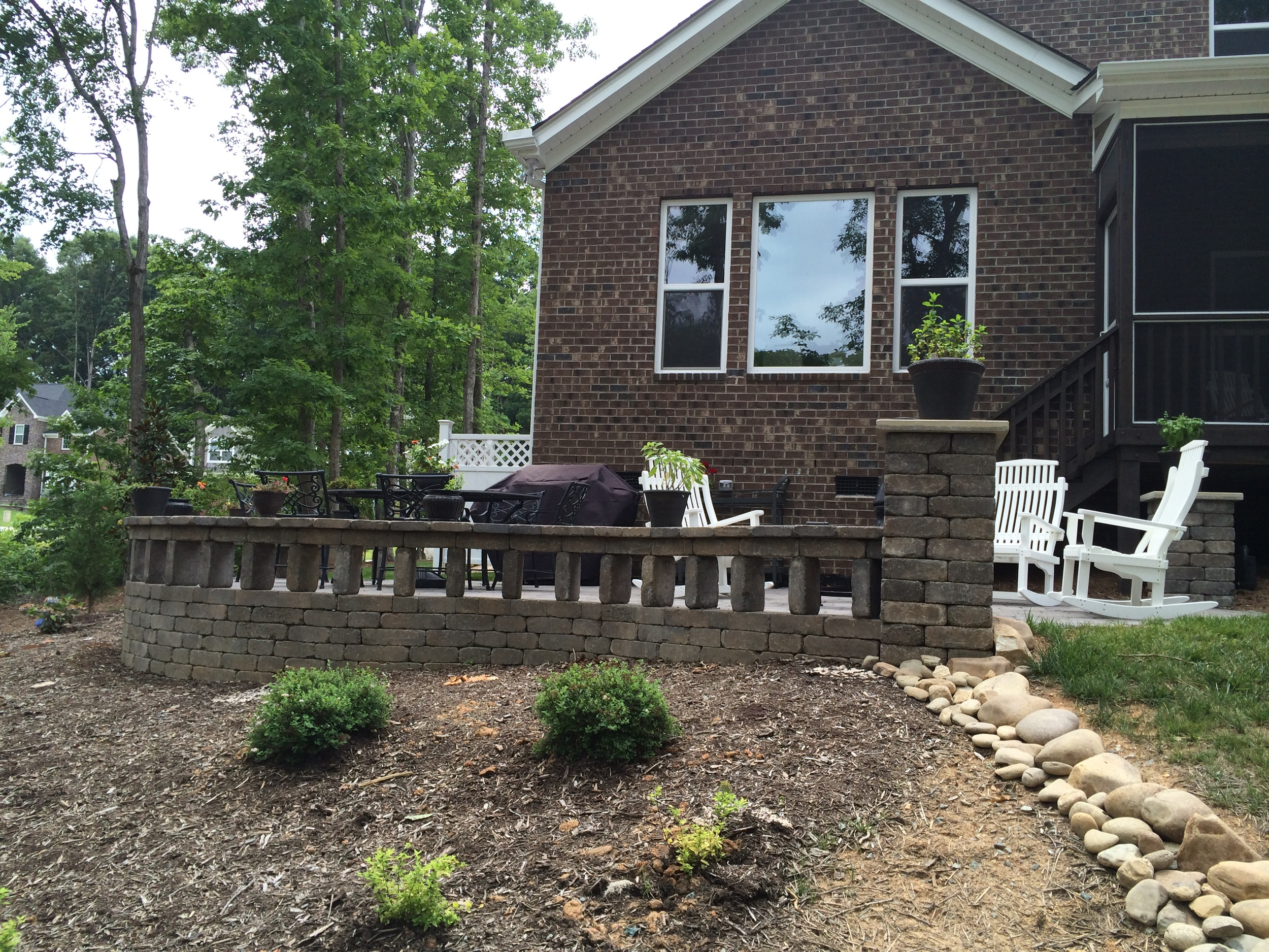 New Raised Patio- 3D Landscape Design Burlington, NC