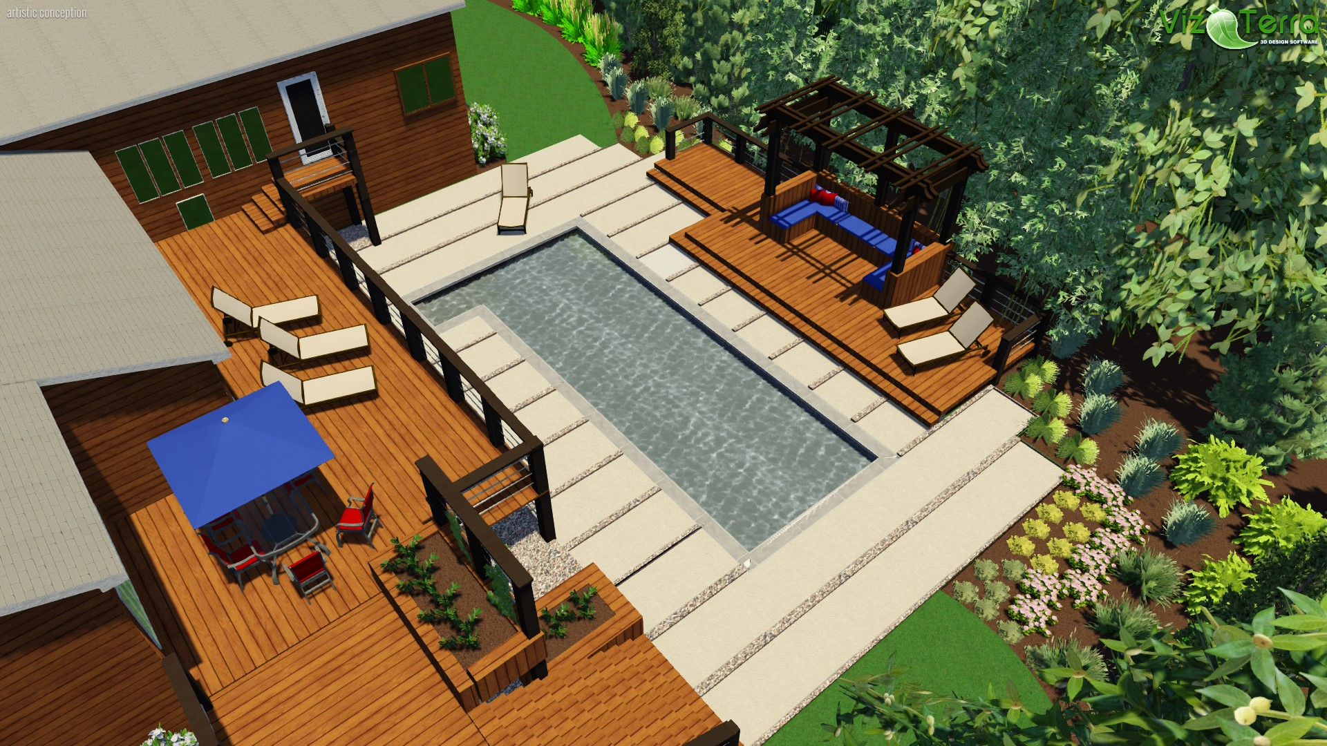 3D Landscape Design- Chapel Hill, NC