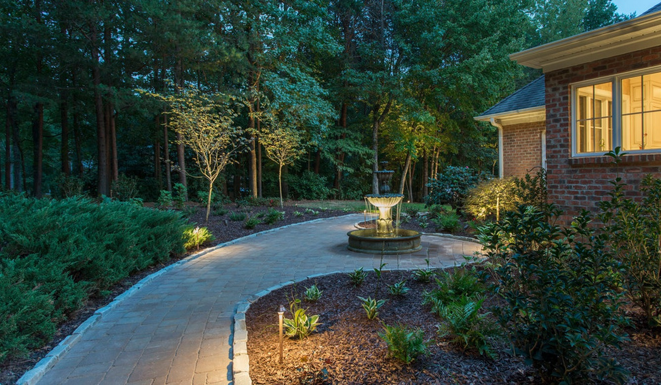 Formal Water Feature- 3D Landscape Design Greensboro, NC