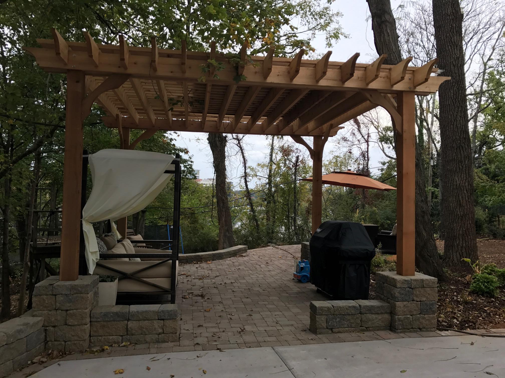 New Driveway Court- 3D Landscape Design Winston-Salem, NC
