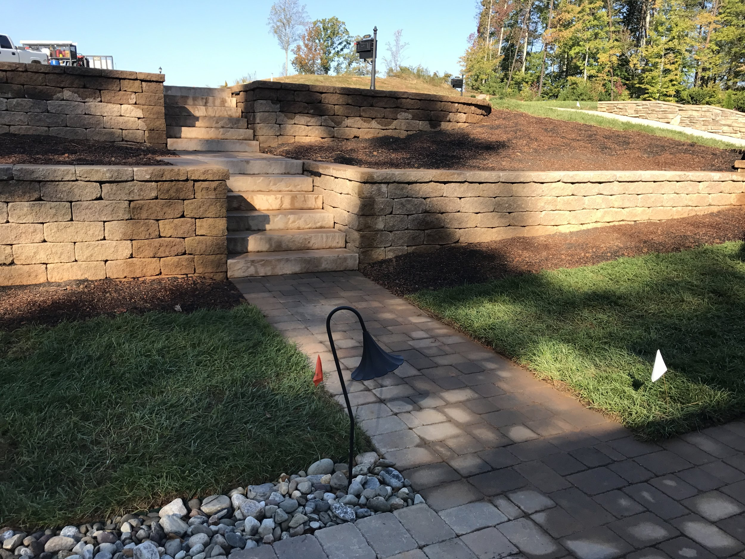 Retaining walls- 3D Landscape Design Greensboro, NC