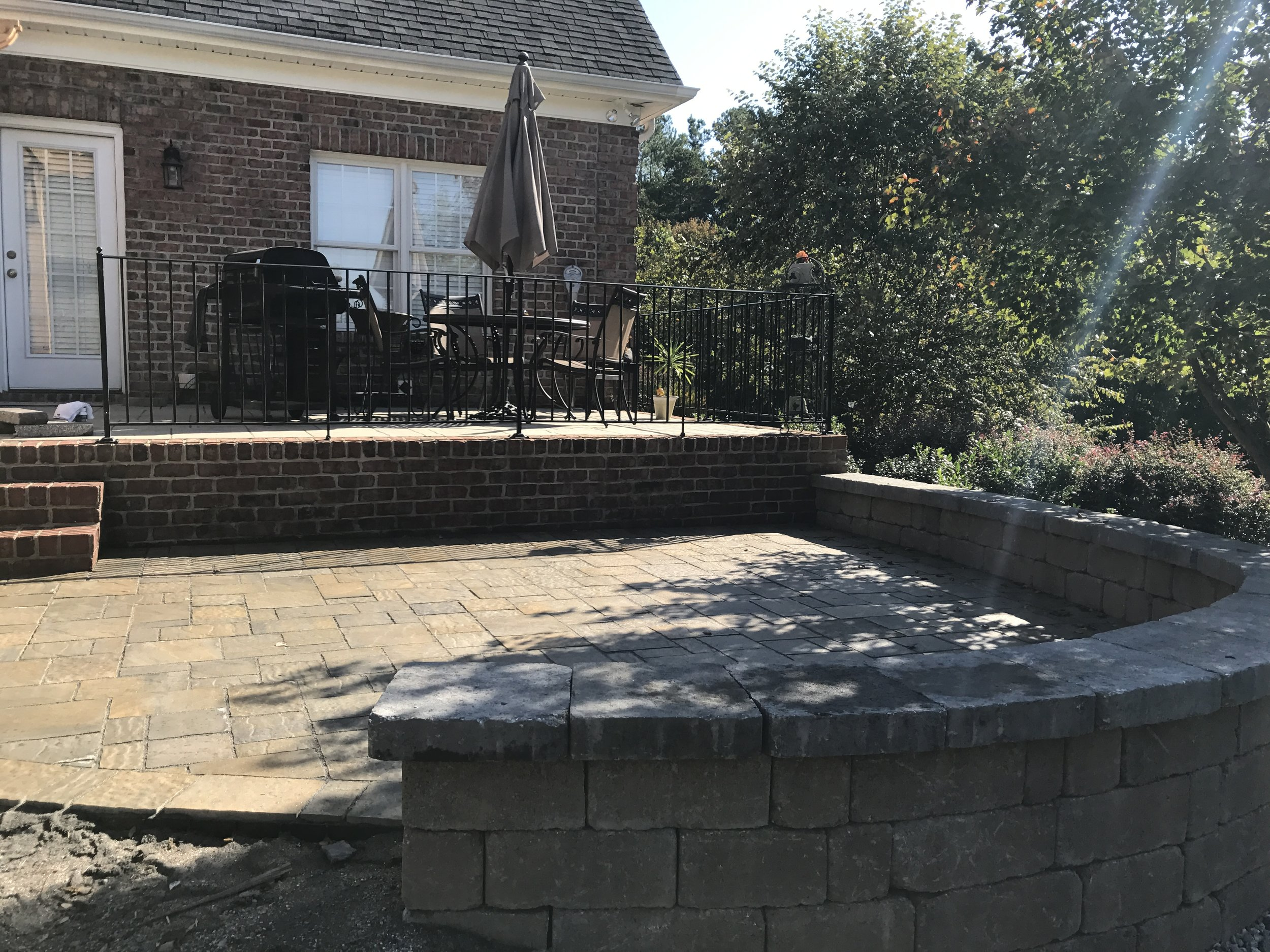 Backyard Hardscape- 3D Landscape Design High Point, NC