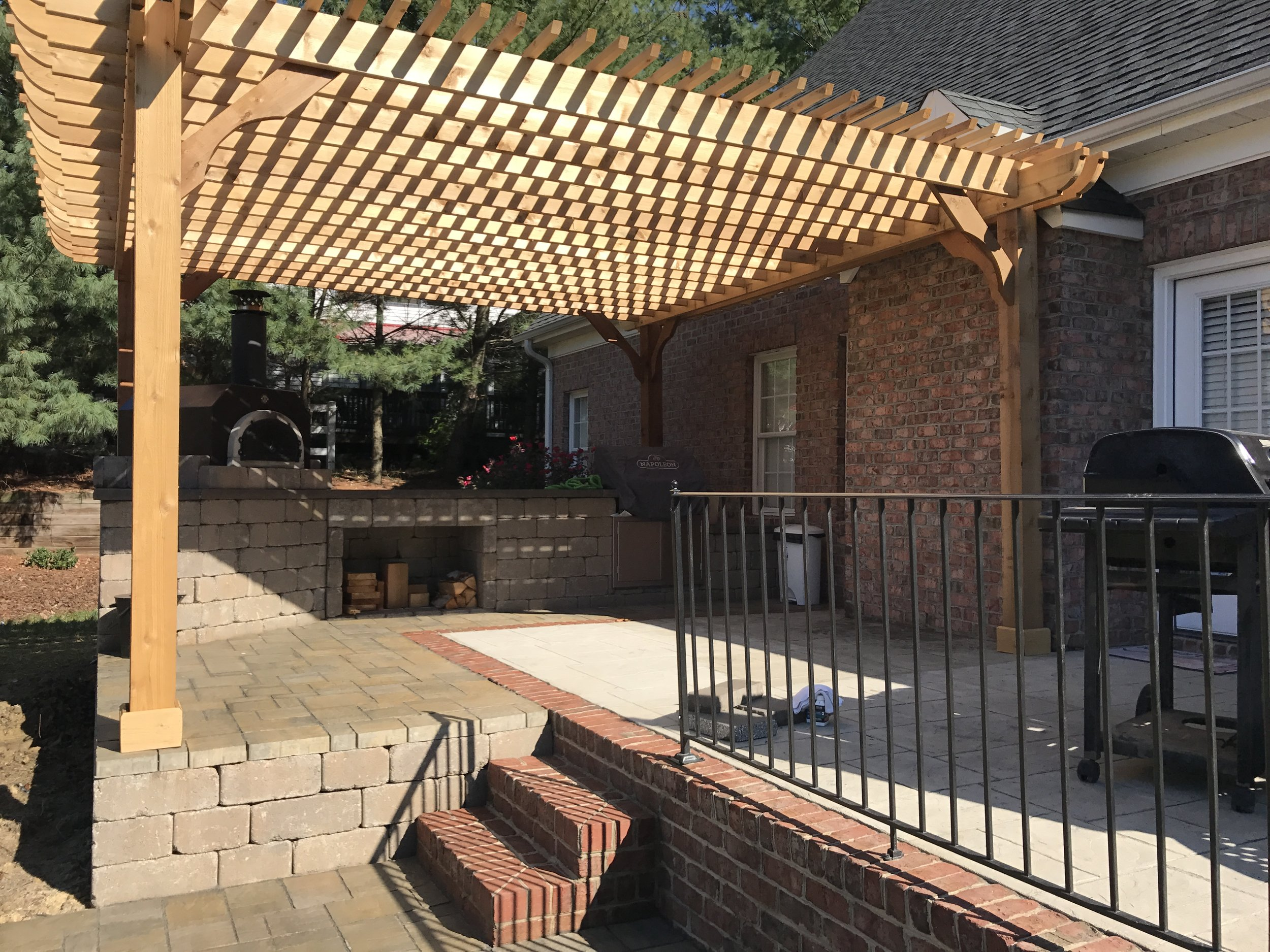 New Raised Patio/Pergola- 3D Landscape Design High Point, NC
