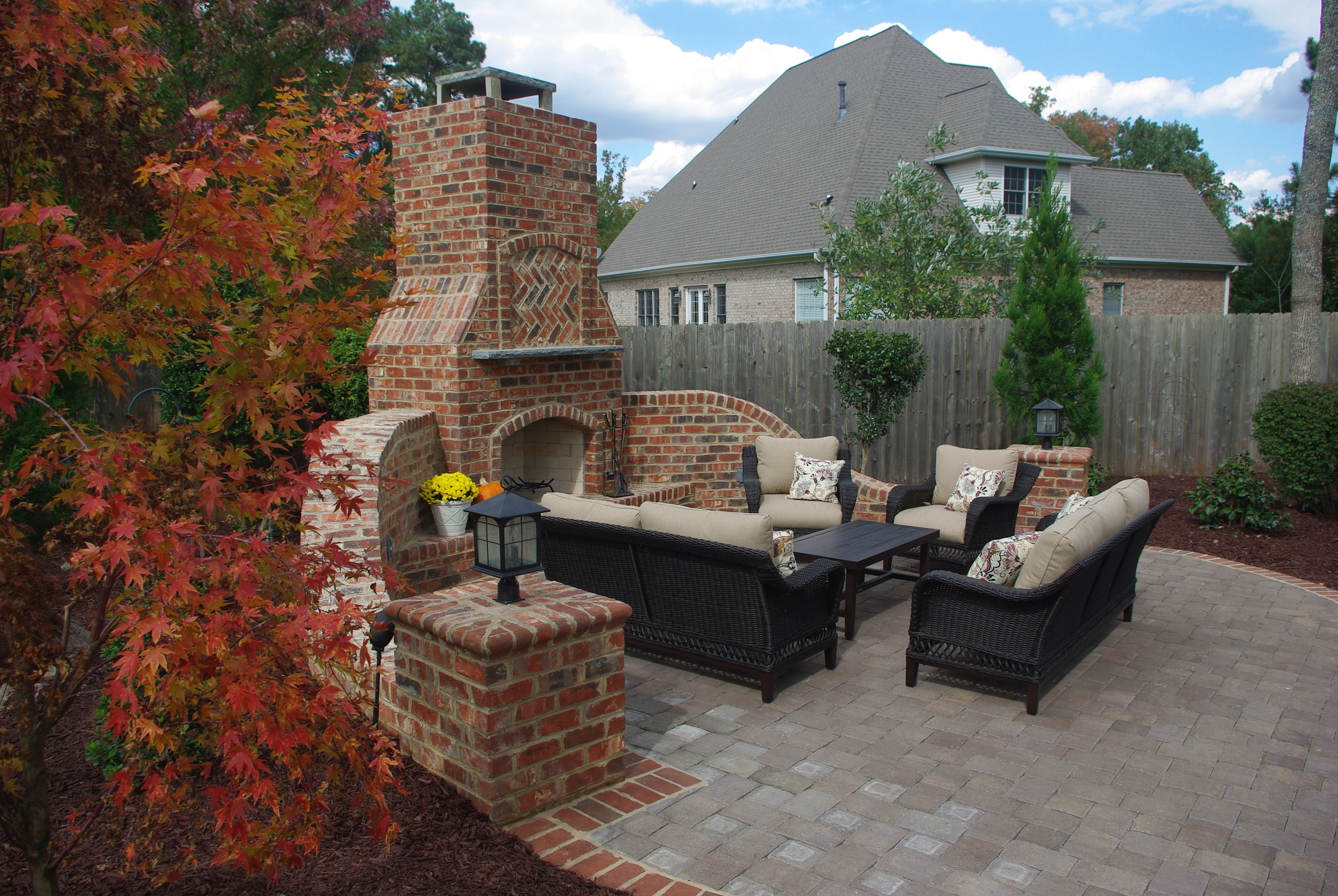 Outdoor Room 3D landscape Design Burlington NC