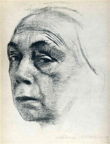 Self-portrait, Käthe Kollwitz. From WikiArt.iorg