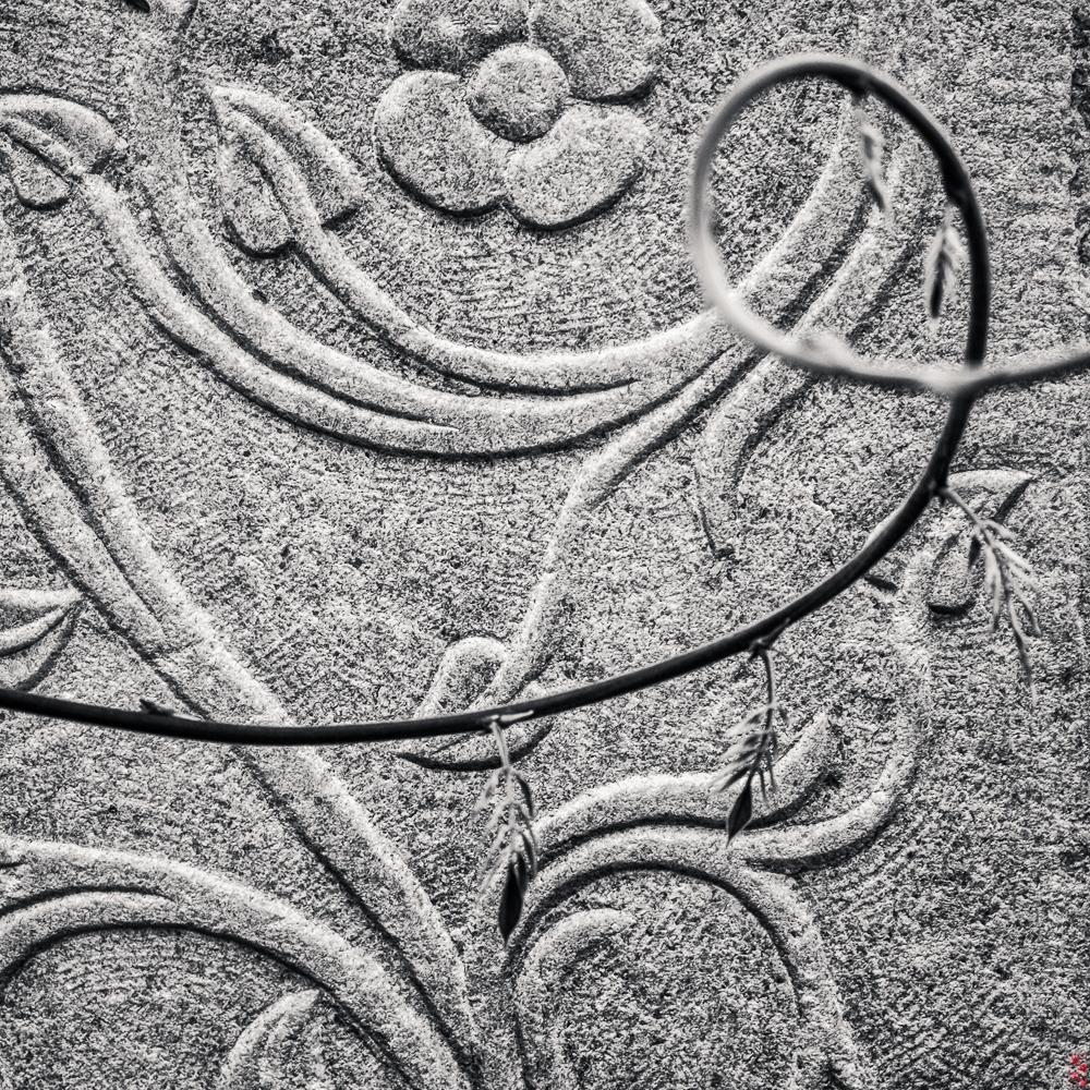 A gravestone in the garden of Hagia Sophia, Trabzon, Turkey