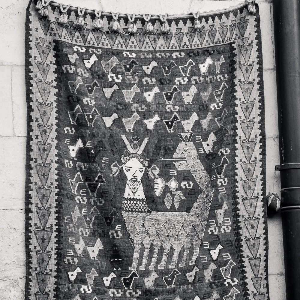 Kilim with Shahmeran, the queen of snakes in Tutun Han, Antep, Turkey