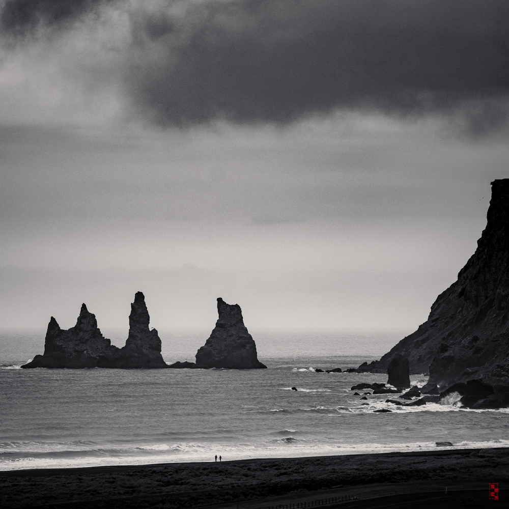Reynisdrangar sea stacks from Vik, Iceland.