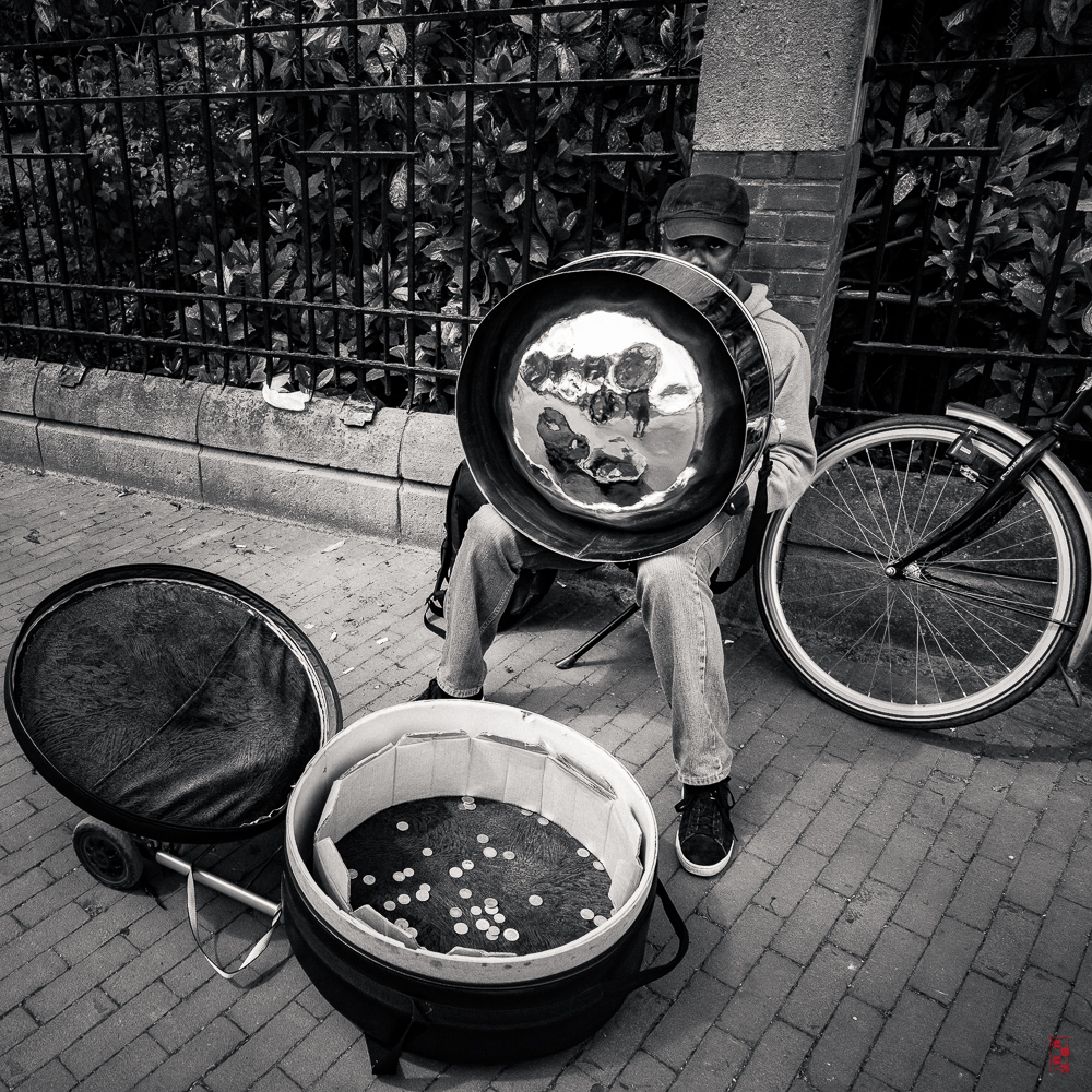 Steel drum player, Amsterdam.