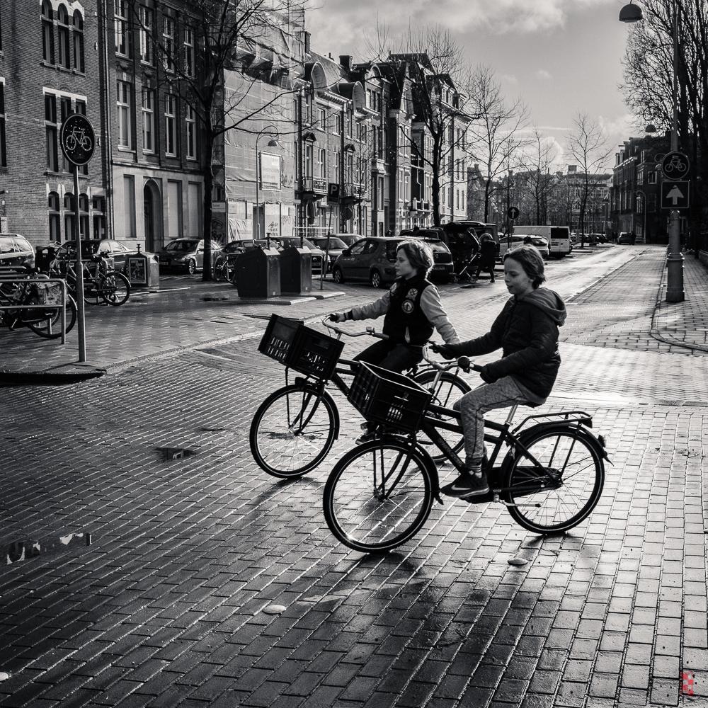 In tandem, Amsterdam.