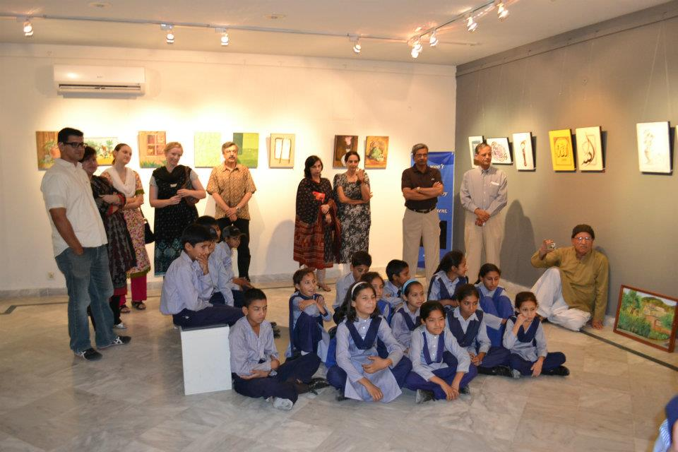 Exhibition of HOLS students at gallery 6