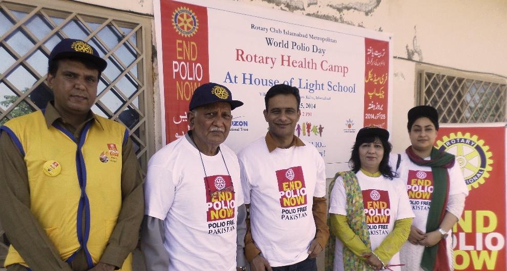 Annual medical check up through Rotary Club