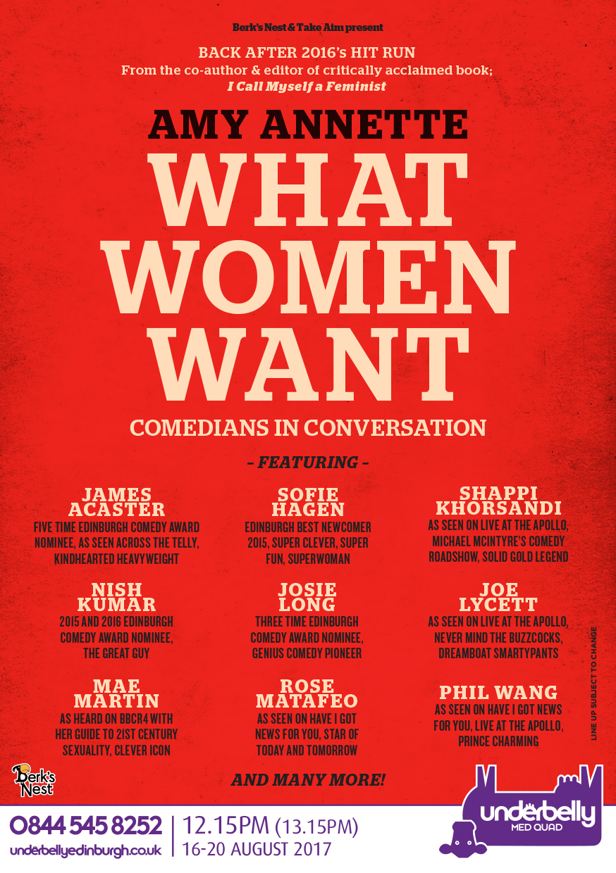 What Women Want with Amy Annette  (Edinburgh, Soho Residency)