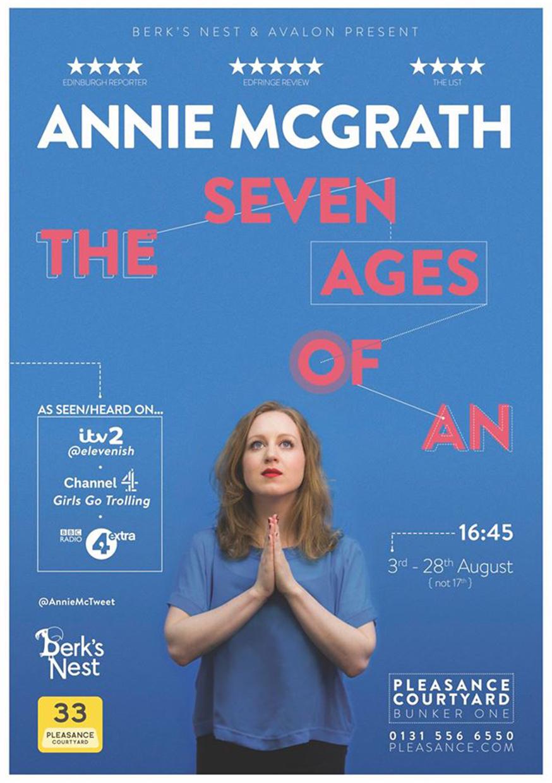 Annie McGrath: The Seven Ages of An  (Edinburgh & The Bill Murray, London)