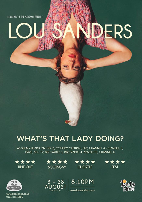 Lou Sanders: What's That Lady Doing?  (Edinburgh, Soho Theatre & NextUp streaming)