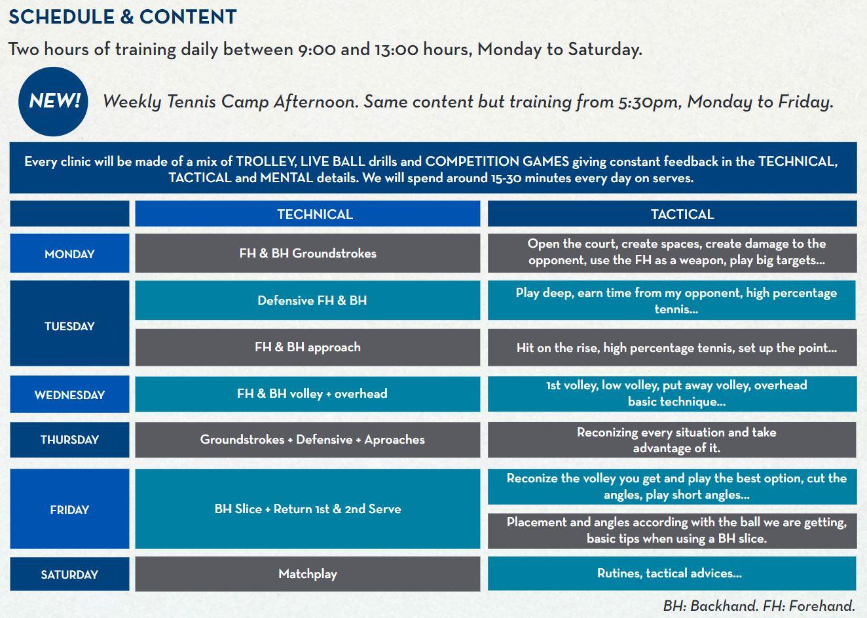 Rafa Nadal Academy by Movistar Adult Weekly Schedule.JPG