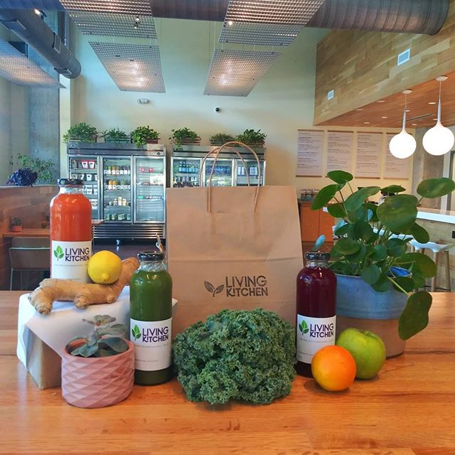 Chapel Hill is Officially open for business! Kick off the weekend with our delicious cold pressed juices buy one get one free from now til friday night! #lkhasit #coldpressed #organic #unpasteurized #bogojuice #livingkitchen2019 #chapelhill #poweredbyplants