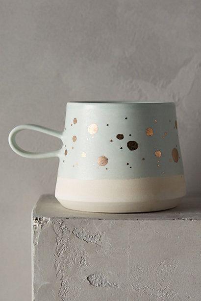 Cute Blue and Gold Mug