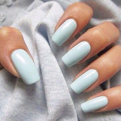 Light Blue Nail Polish