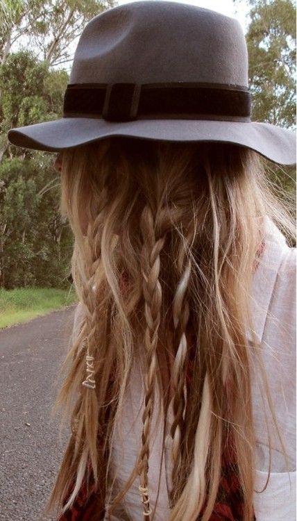 Cute Hat + Braided Hair