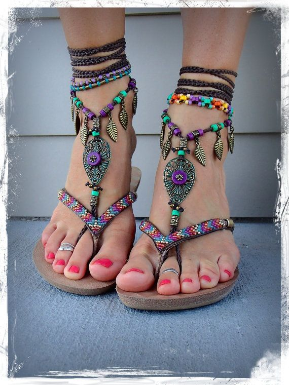 Embellished Boho Sandals
